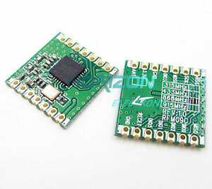 433//868Mhz RFM69CW HopeRF Wireless Transceiver With RFM12B Compatible Footprint