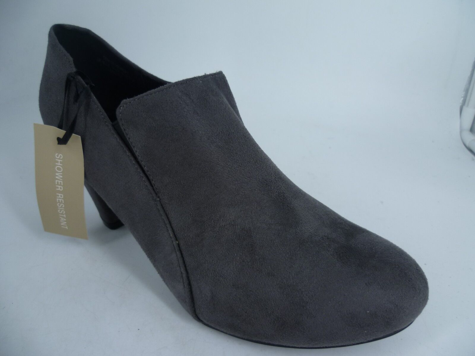 Evans Temi Zip Up Mid Heel Ankle Boots Grey EEE Fit LN092 GG 05