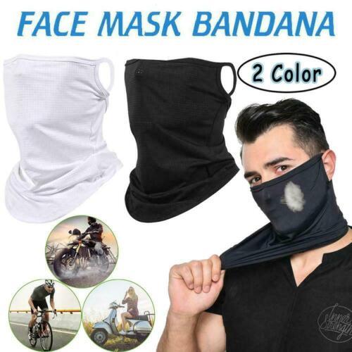 Multi-use Face Mask Tube Scarf Balaclava Neck Gaiter Outdoor Bandana Headwear CA