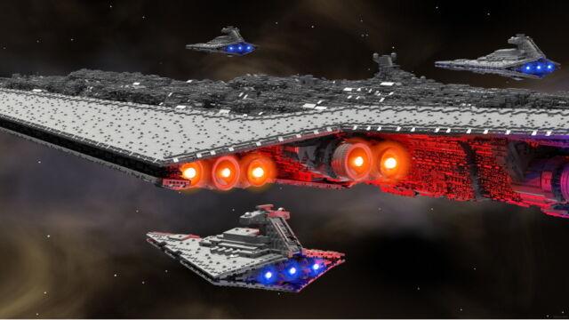 13-foot-long, 71,000-piece LEGO Star Wars Super Star Destroyer (LDD/LDRAW File)