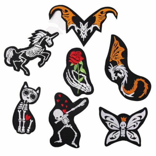 Skeleton Day of the Dead style Animal Iron On Patch Sew on Transfer skull