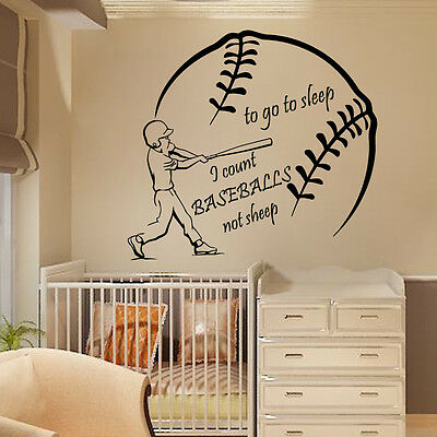 Wall Decal Quote Vinyl Sticker Baseball