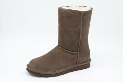 Bearpaw ELLE SHORT BOOT Never Wet AUTHENTIC Exclusive SEAL BROWN Womens 10 NEW
