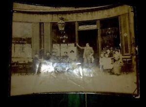 RESTAURANT PARISIEN.PHOTO D'UNE DEVANTURE VERS 1920.