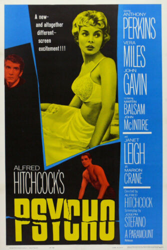 """ALFRED HITCHCOCK PSYCHO CLASSIC MOVIE POSTER 12/"""" X 18/"""""""