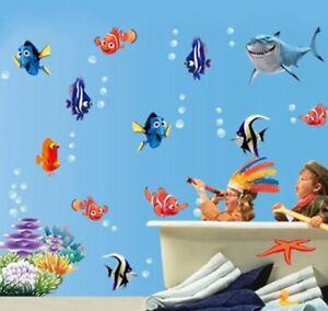 Das Bild Wird Geladen Findet Nemo Dorie Wandtattoo Fische Comic Wandsticker  Deko