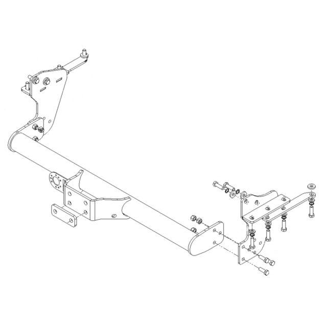 W//O Step//Bumper Flange Tow Bar 1998-2005 Towbar for Nissan Navara 4WD Pickup