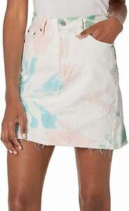 Levi's Womens Denim Skirt White Size 29 Tie-Dye High-Rise Deconstructed $79 688