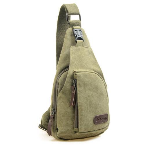 Men Vintage Military Backpack Rucksack Chest Shoulder Bag Travel Book Satchel US