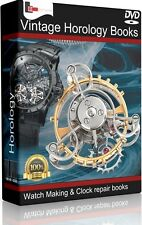 180 Vintage Horology Books Watch Making Clock Repair Pocket Key History DVD