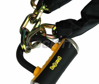 Onguard Mastiff 8019L 6FT 10mm hex chain with Quad bolt U lock