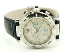 MONTRES PASHA DE CARTIER Herrenuhr CHRONOGRAPH 38mm Stahl Quartz FULL-SET