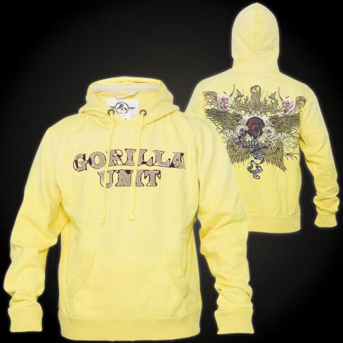 GORILLA UNIT Hoody Star Gelb Hoodies Herren sweatshirt Star