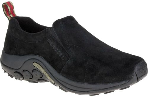Merrell Jungle Moc Mens Shoes Black Slip On Stylish Suede Trainers