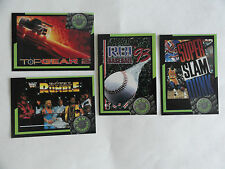 BLOCKBUSTER GAME CARDS (4 LOT) MINT 1993 WWR TOP GEAR 2 RBI SUPER SLAM DUNK
