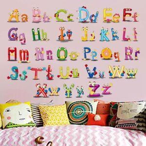 Alphabet-ABC-Wandsticker-Wandtattoo-Kinder-Aufkleber-Buchstaben-Wandaufklebe-EZ