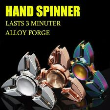 2017 New Tri Fidget Hand Spinner Zinc Alloy 4-6 Mins EDC Finger Toy R188 Bearing
