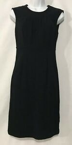 Banana-Republic-Women-Size-2-Black-Sleeveless-Knee-length-Dress-sheath