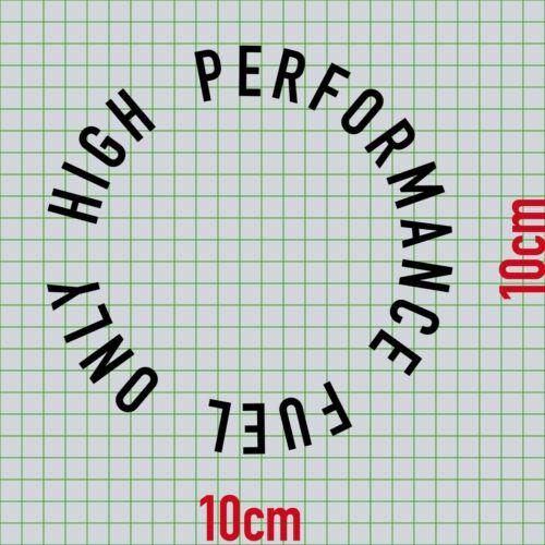10 cm Noir 360 ° Autocollant Tatouage High Performance Fuel Voiture Roue Réservoir Couvercle