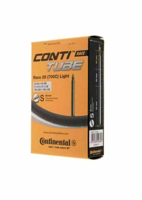 New 2018 Continental Race 28 Light 700c 18//25  Road Bike Inner Tube 80mm Presta