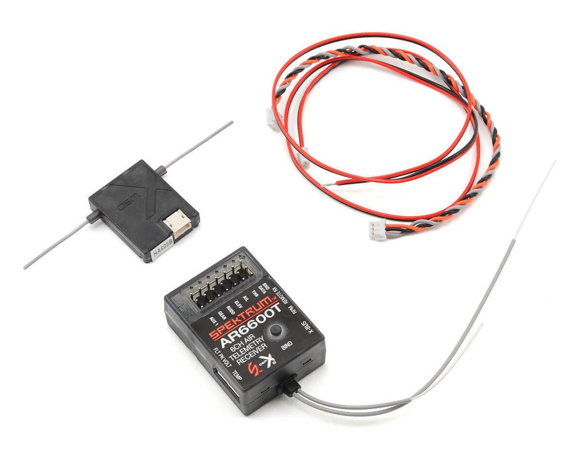 Spektrum AR6600T 6 canales Integrado Receptor de Aire de telemetría SPMAR 6600 T