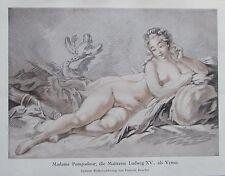 MADAME POMPADOUR MAITRESSE LUDWIG XV. um 1910 Farbdruck print Lithografie