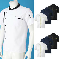 New Listingmens Chef Jacket Coat Uniform Kitchen Short Sleeve Jackets Work Cook Kitchen Top