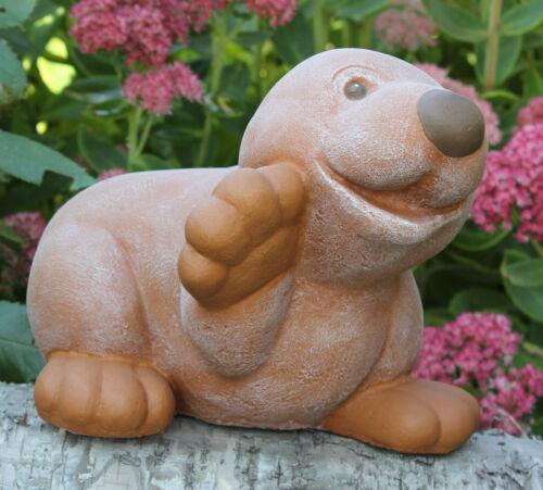 Steinfigur Maulwurf Figur Gartenfigur Gartendeko Dekofigur Skulptur frostfest