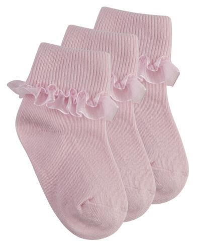 TICK TOCK bébé filles coton riche dentelle froncée top chaussettes