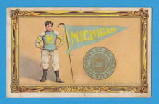 1911 T6 Turkey Red Cabinet UNIVERSITY OF MICHIGAN - football  NICE!!!!