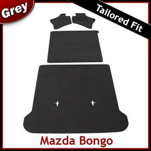MAZDA-BONGO-Full-Set-of-Tailored-Fitted-Carpet-Car-Floor-amp-Boot-Mats-GREY