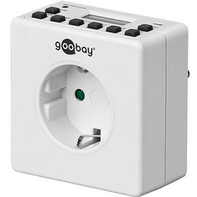 Temporizador programable digital con enchufe IP20 Blanco