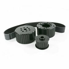 Chevy Small Block Sbc Short Water Pump Gilmer Style Pulley Kit Black
