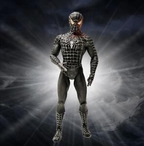 Marvel-Legends-Universe-Black-Costume-Spider-man-7-034-Action-Figure-Loose-Kid-Toy