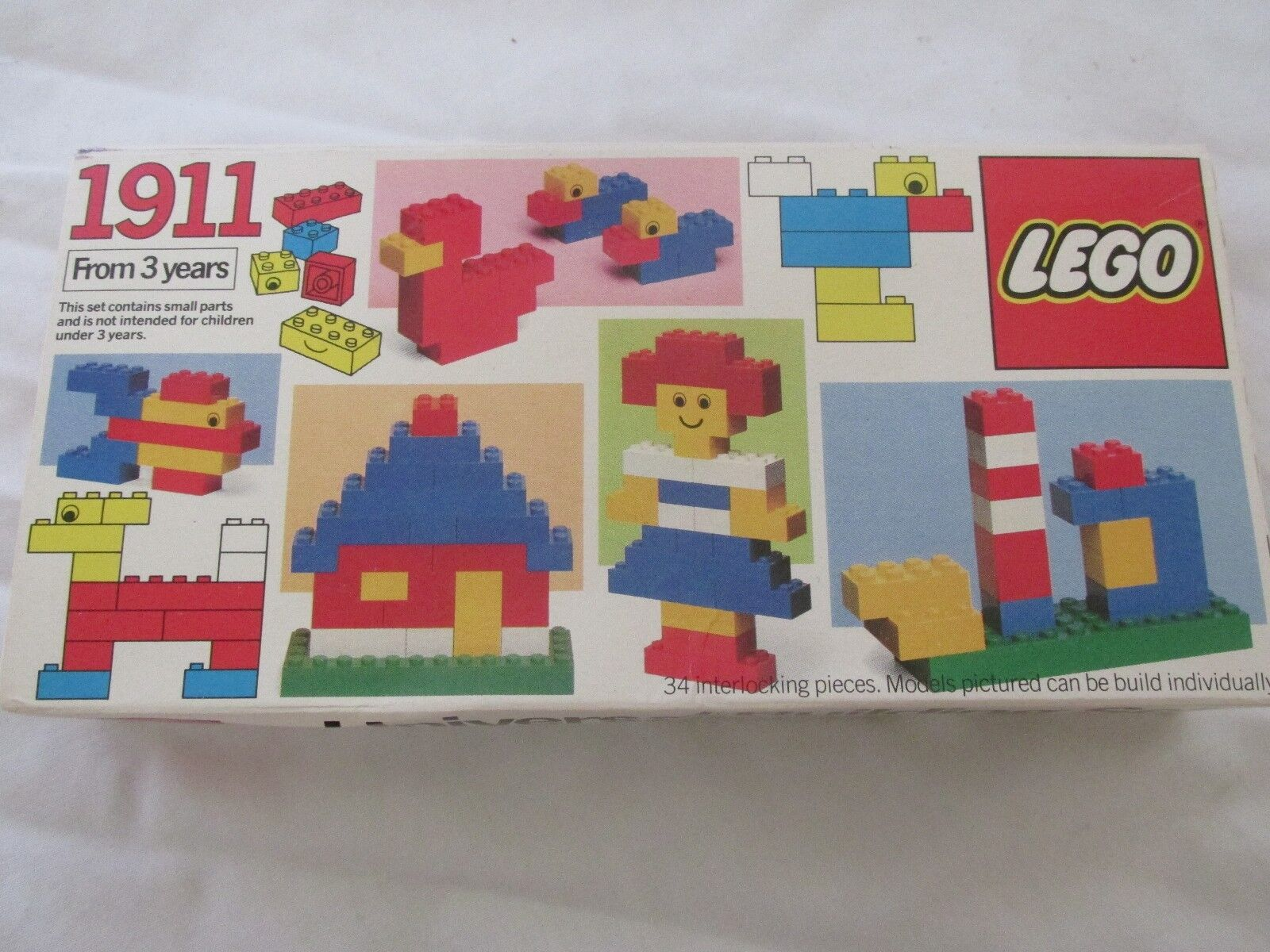 Brand New in Box Vintage 1983 Lego Universal Building Set Model No. 1911 34 Pcs.