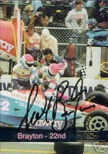 SCOTT BRAYTON  AUTOGRAPHED  1993 HI-TECH RACING CARD