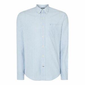 IZOD-Oxford-Stripe-Shirt-Mens-Size-UK-Large-Blue-White-REF83