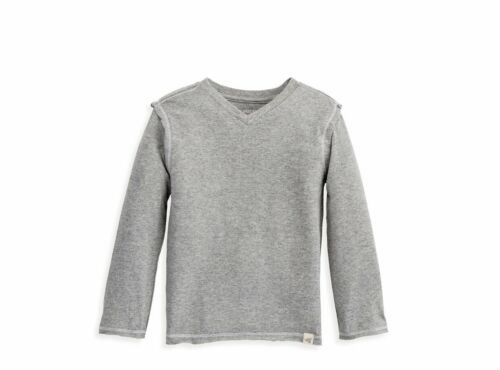 Long Sleeve V Neck T Shirt Jersey Knit Boys Kids Top Play Wear Burts Bees Tees