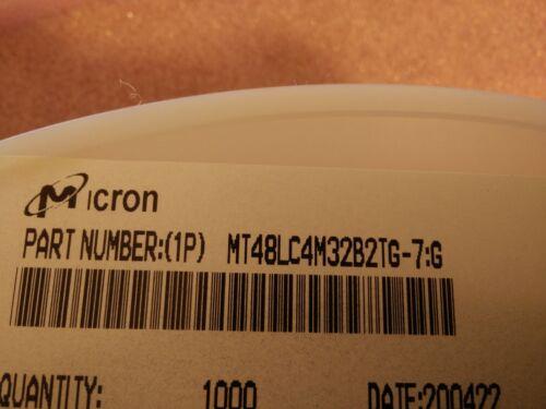 4x MICRON MT48LC4M32B2TG-7 TSOP-II SDRAM 128Mbit 4x1Mx32bit 3.3V 143MHz 86