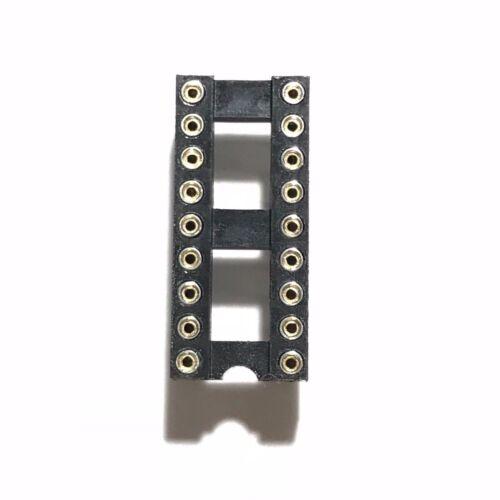 20PCS IC Sockets DIP-18 Machined Round Contact Pins Holes 2.54mm DIP18 DIP 18