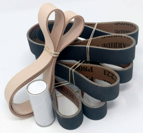 15 Pack Sanding Belt Assortment 1x30 in Leather Honing Belt SUPER STROP