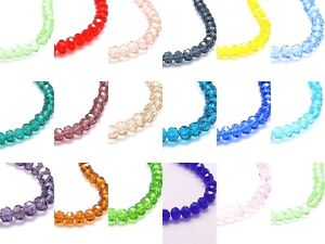 100-x-6x4mm-Crystal-Rondelle-Beads-Faceted-BUY-4-GET-1-FREE
