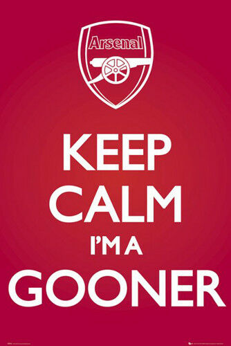 Arsenal FC Official KEEP CALM I/'M A GOONER Soccer EPL Team POSTER
