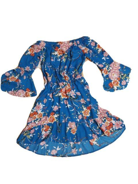 MINKPINK Womens Sri Lanka Floral Print Off Shoulder Dress