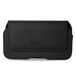 low priced c1b55 91328 Details about Black Leather Belt Loop Case Horizontal fits CoolPad Snap  Flip Phone