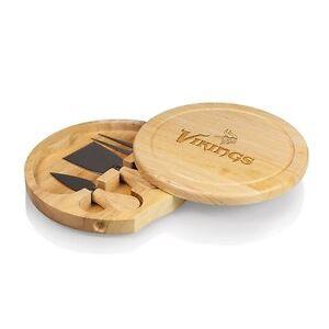 NEW MINNESOTA VIKINGS Brie Cheese Board Set Picnic Tailgate