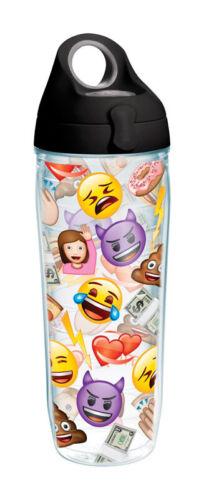 environ 680.38 g bouteille d/'eau Tervis clair Tritan Emoji BPA Free 24 oz
