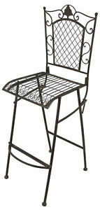 Tabouret De Bar Chaise Pliante 20833 Ancien Metal