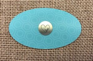 Authentic-Origami-Owl-Silver-Medium-Love-w-Heart-Plate-NEW
