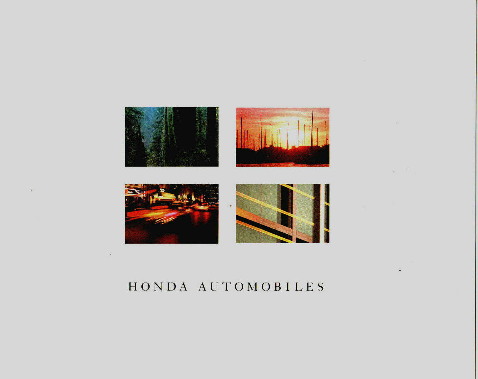 1987 Honda Line Sales Brochure Catalog Civic CRX Accord Prelude Coupe Si